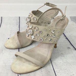 3/$15 BCBG Crystal studded strappy high heel Shoe